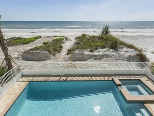 Direct Beach Front - Pool Home -  6 Bedrooms - 4.5 Bath