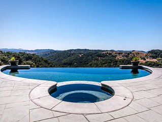 Private & luxurious hilltop house w/private pool & spa, surrounded by wineries!