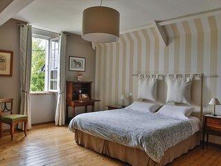 Chambre Tombelaine dans propriété style normand près de la baie du Mt St Michel