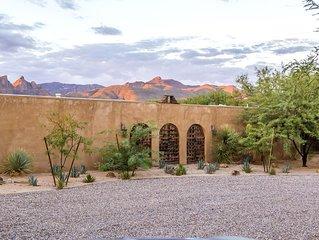 Unique Designer's Hacienda with Pool and Mountain Views on 2 acres