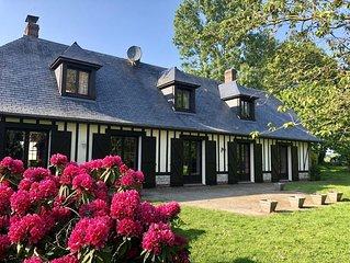 Belle villa normande près d'Etretat pour 16 personnes à 5 min de la mer