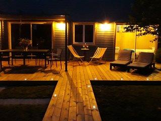 Maison bois neuve calme  Proche plages,Surf Spa  Piscine Terrasse
