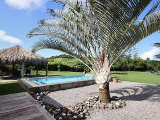 Villa Martinique 3 chambres, piscine, cadre reposant, proche spot kitesurf