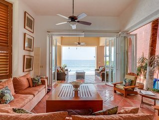 Sandy Beach-front Villa with Chef, Maid, Private Pool, All-Inclusive Available