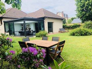 Superbe Maison spacieuse, Grand jardin, Deauville centre