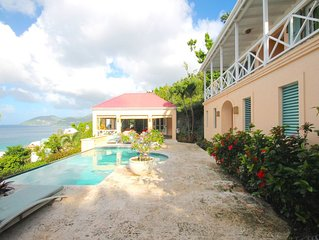 Luxury 3 Bed Sea View Villa, Long Bay Beach; Private Swimming Pool & Garden