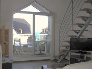 Erquy: grand appartement lumineux vue sur mer avec ascenseur