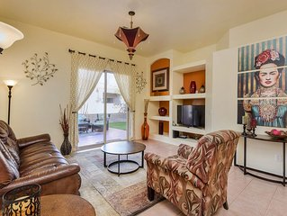 NEW LISTING! Colorful home in gated community w/ patio & shared pool/hot tub!