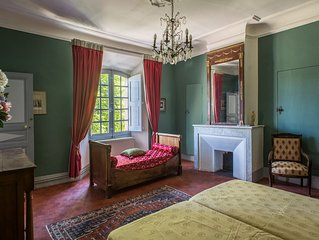 Chambre 'Twin' 'Joséphine' au Château (capacité 3)