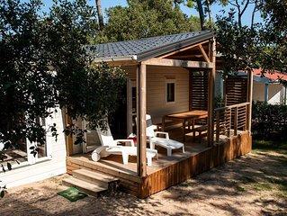 Camping Le Domaine des Pins**** - Chalet Luxe 4 Pieces 6 Personnes