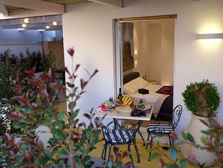 Spacieux apt avec terrasse and balcon