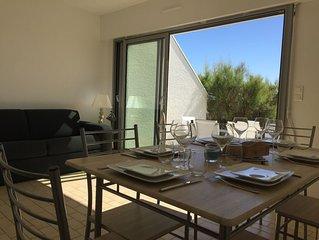Appartement en rez de jardin avec accès direct sur la plage de La Turballe