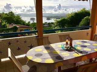 Maison 3ch,vue imprenable sur la mer des Caraibes.