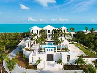 7 bedroom Beachfront Luxury Estate on Long Bay Beach 5 minutes from Grace Bay