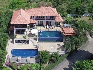 2 Pools! 6BR, Seaview! Villa Serena Klong Khong