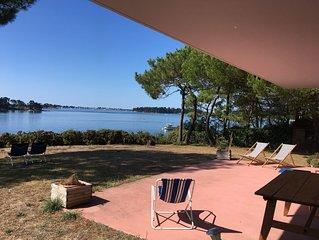 Maison d'architecte de plain pied avec vue panoramique sur le golfe du Morbihan