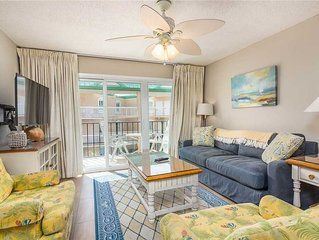 Spacious Oceanfront Condominium on St Simons with Pool, Beach Access, Fitness Ct