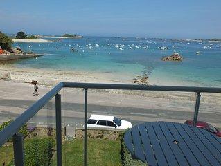 Baie de Perros Guirec , Brehat a Port Blanc beau T2 WIFI magnifique vue mer