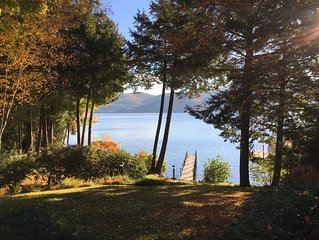 Lakeside living in Bolton Landing at its quiet and secluded best