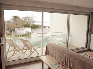 PL  12      Appartement avec vue mer et 150m de la plage au Trez-Hir