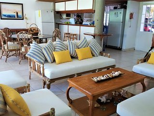 PEACEFULL AND SAFE BEACHFRONT TOWNHOUSE IN THE PACIFIC MOST BEAUTIFUL BEACH IN