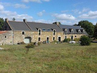 Chambre d'hôte dans longère traditionnelle bretonne