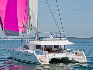 All-Inclusive Sail Vacation for up to 12 guests on a 2016 Lagoon 620 Catamaran