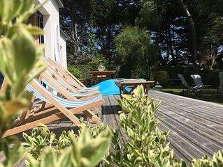 Villa, tres joli jardin, a 200 metres des plages