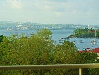 Superbe appartement T3 belle vue mer aux 3 Ilets 100 m plage