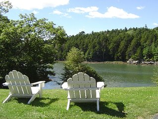 3 BR, 1.5 BA home waterfront on Sheepscot River with a private dock & float