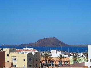 Appartement centre Corralejo, vue mer et volcans