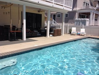 Perfect Beach Block Home with Amazing Pool and Outdoor Entertainment Area