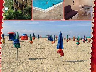2p-Deauville - Res. P&V du golf de Barriere- Proche mer et golf.  Wifi illimite