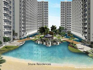 1 Bedroom Fully Furnished Condo Across MOA - Shore Residences Bldg B, Unit 1246