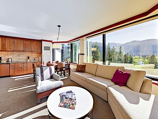 1BR Resort at Squaw Creek Corner Unit Wrap-Around Views Sleeps 4 King Suite