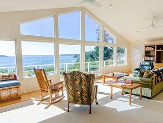 Sound Views from Camano Island Home - Huge Highbank Property with  Gazebo