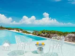 Breathtaking Views In Every Shade Of Blue Greet You At This Elegant Villa