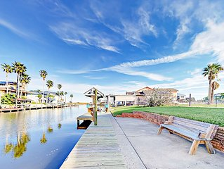Canal Front Coastal Gem in City by the Sea w/ Upper Deck, Patio & Boat  Dock