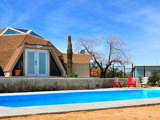 Serenity Dome House Oasis near Joshua Tree - AC/Pool/Hot Tub