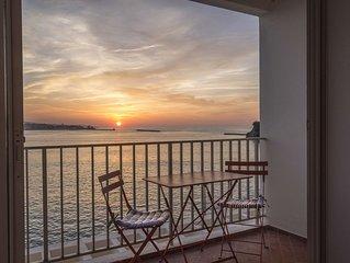 Vue mer-Appartement St Jean de Luz 1ère ligne sur l'océan-Déco contemporaine