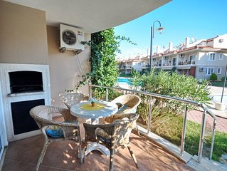 Rental 1+1 Aparts in Fethiye Calis in a Complex Shared Pool Aqua 2. Fully furnis