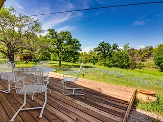 Lakeside Burnet home w/deck surrounded by nature & wildlife
