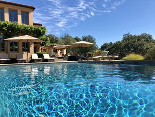 Wine Country Villa and Vineyard with Pool, Hot Tub, Transit Van