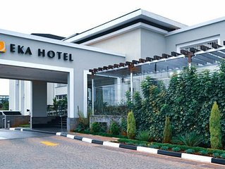 Return from an adventures safari and relax in the Eka hotel