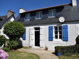 Maison a 100m plage de Tourony avec jardin clos a TREGASTEL