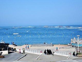 Appartement 3* avec belle vue mer sur la plage du Coz Pors a TREGASTEL