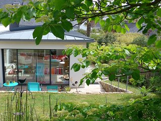 Belle villa 4* avec jardin, WIFI à 600m de la plage à TREGASTEL
