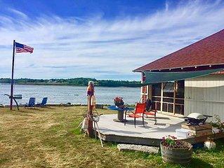 Spectacular Beach Boathouse, Blue Hill Peninsula, Brooksville, Acadia