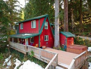 Cozy riverfront cabin on Skykomish. Amazing views, pets ok, HOT TUB!