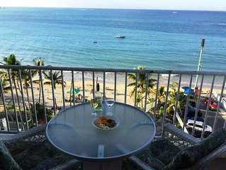 Private OCEANVIEW Condo - BEACHFRONT Stunning Views ~Isla Verde Beach- 2 Bedroom